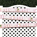 20 Its A Girl Pink Baby Shower Decoration Tape Ribbon