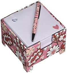 Vera Bradley US Office Product Note Cube & Mini Pen in Cobalt Tile (13805-376)