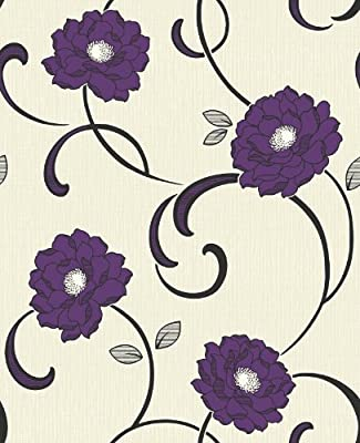 Florentina Floral Print Luxury Vinyl Wallpaper