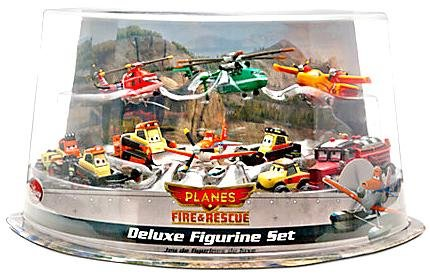 Disney PLANES: Fire & Rescue Exclusive Deluxe 10 Piece PVC Figure Play Set [Pontoon Dusty, Blade Ranger, Windlifter, Lil' Dipper, Mayday, Dynamite, Avalanche, Blackout, Drip & Pinecone] фотообои disney edition 1 planes dusty and friends 184 х 254см