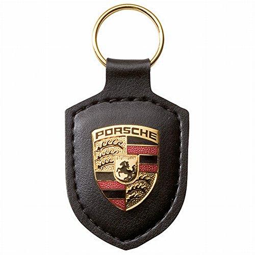 porsche-original-key-fob-black-leather-with-metal-colour-crest-in-silver-porsche-presentation-box