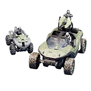 McFarlane Toys Halo Micro Ops Series 1: Warthog and Mongoose with 2 Spartans and Trooper