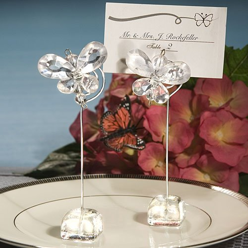 Exquisite Clear Butterfly Place Card Holders