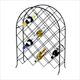 Spectrum 48610 Trellis Wine Rack, 30-Bottle, Black
