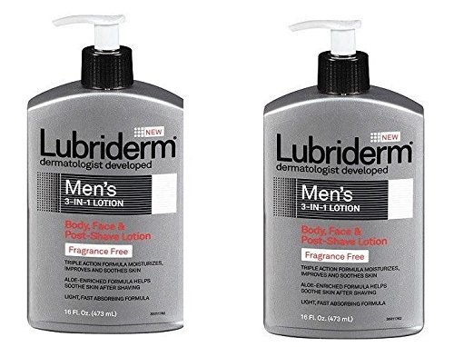lubriderm-lubriderm-mens-3in1-lotion-body-face-and-postshave-lotion-fragrance-free-16-fl-oz-pack-of-