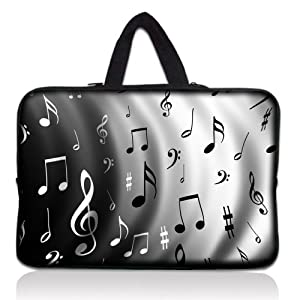 "notes de musique 10 ""ordinateur portable Sacoche Sleeve Sac pour"