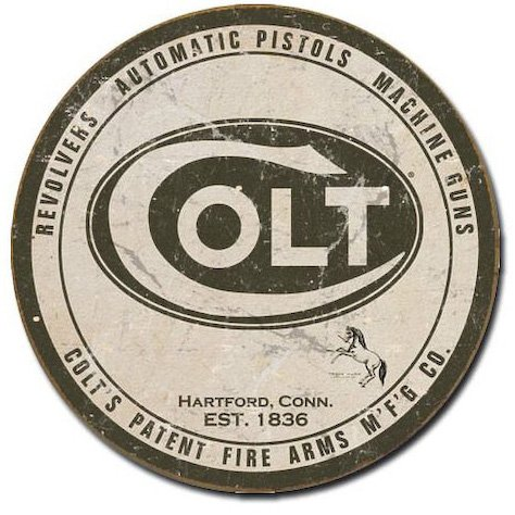 "Colt ""Round Logo"" Metal Sign"