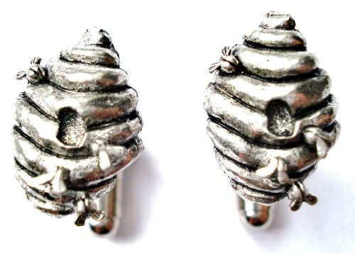 Bee Hive Pewter Cufflinks