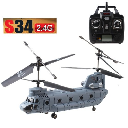 AGPtek® Newest Model Syma S34 3ch 3 Channel Chinook 18