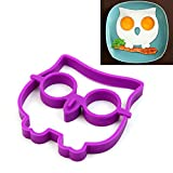 HeroNeo® Breakfast Silicone Owl Fried Egg Mold Pancake Egg Ring Shaper Funny Cooking Tool