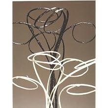 Green Floral Crafts Black Sparkle Halo Sticks, Pack of 6 - 40
