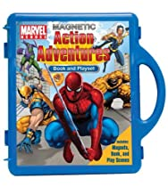 Big Sale Best Cheap Deals Marvel Heroes Action Adventures Book & Magnetic Playset