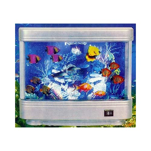 Aqua World Illuminated Aquarium Motion Lamp