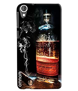 Omnam Cigar And Whisky Combination Printed Designer Back Cover Case For HTC Desire 820