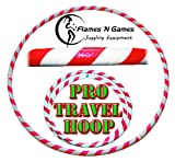 Pro Hula Hoops: Travel Weighted Hula Hoop - Hula Hoops For Exercise, Dance & Fitness! (39'-660g) NO Instructions Needed! (White/UV Pink)