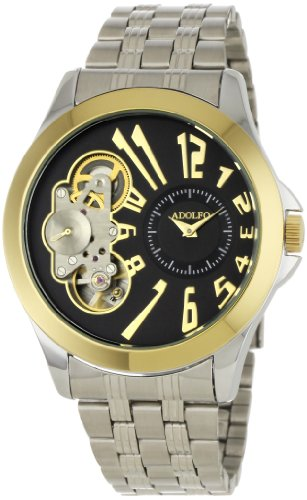 ADOLFO Men's 31020B Exhibition Back Auto Quartz Watch