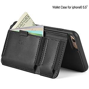 Amazon.com: iPhone 6 plus Wallet Case - Leather Case for iPhone 6 Plus