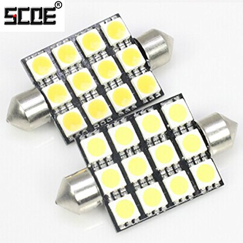 Scoe 42Mm C5W Dc12V 12Smd 5050Led Pack Of 1- Purple