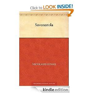 Savonarola (German Edition) Nikolaus Lenau