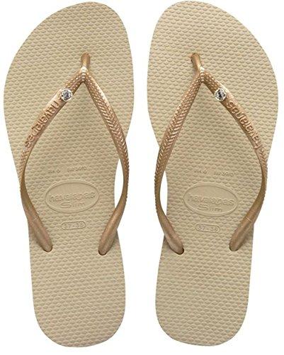 havaianas-slim-crystal-glamour-sw-chanclas-unisex-para-adultos-color-dorado-sand-grey-0154-talla-39-