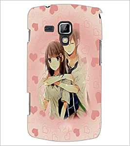 PrintDhaba Couple D-3706 Back Case Cover for SAMSUNG GALAXY S DUOS S7562 (Multi-Coloured)