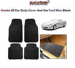 AutoSun Car Body Cover/ Car Foot Mats Set of 4 Pc Black Maruti Suzuki - Alto (Old)