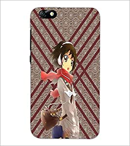 PrintDhaba Music Girl D-3773 Back Case Cover for HUAWEI HONOR 4X (Multi-Coloured)