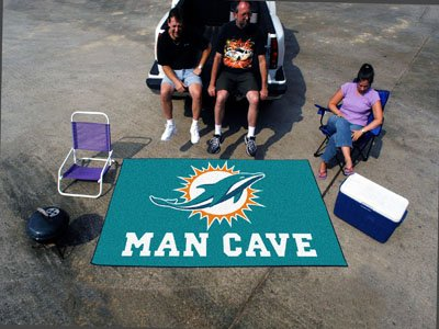 "Miami Dolphins Man Cave UltiMat Rug 60""x96"" - FAN-14326"