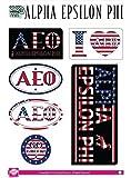 Alpha Epsilon Phi Sticker Sheet - American Theme. 8.5