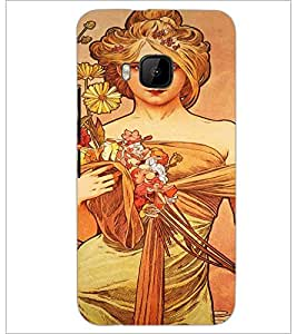 PrintDhaba Painting D-5028 Back Case Cover for HTC ONE M9 (Multi-Coloured)