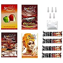 Desi Karigar Aroma Happiness Herbal Hookah Flavour Combo Of 4 Pack Plus 4 Rolls Of Charcoal Plus Filter Tips Plus...