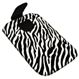 Glitzy Gizmos Zebra Velvet Sock Cover Pouch Case Sleeve Suitable for Nokia E5 E5-00