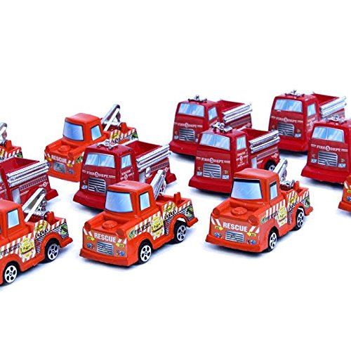 Dazzling Toys Pull Back and Release Firetruck 12 Pack (D232)