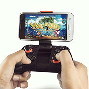 MOCUTE Wireless Bluetooth Game Controller Gamepad Joypad Joystick for Android Phone Samsung Gear VR, S6, S6 Edge, S7, S7 Edge, Note 5, Nexus, HTC, LG/Tablet PC iphone 6 6s Games with Clip