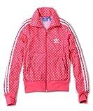 adidas originals アディダスオリジナルス ジャージ レディース メンズ FIREBIRD TT LIP トレフォイル リップ 総柄 並行輸入品 (XS, Pink(White))