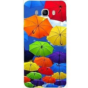 Casotec Colorful Umbrellas Design Hard Back Case cover for Samsung Galaxy J5 (2016)