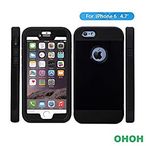iPhone 6 Case, 2015 HOTEST [Shockproof] [Scratch Resistant] [Dirtproof] iPhone 6 (4.7 inch) case **NEWEST** [Trendy Series] Premium TPU+PC Dual layer Hybrid Excellent Protection Hard Case and Build-in Protector for iPhone 6 4.7 inch(Black)