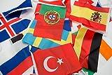 Cindio 7 Meter 24 Länder Fahnen Wimpelkette Fahnenkette Flaggenkette Girlande