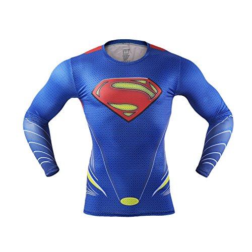 MBaxter-Manga-Larga-Camisa-de-Deportes-Respirables-Maillot-Popular-Ropa-de-Deporte-para-Hombres