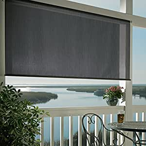 Coolaroo Exterior Roller Shade 8ft By 6ft Carbon Discontinued By Manufacturer