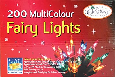 200 Multi-Colour Fairy Lights By The Benross Christmas Workshop