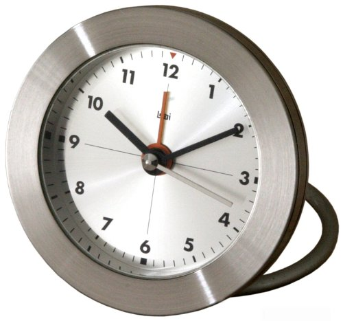 Bai Round Diecast Solid Metal Travel Alarm Clock, Formula One