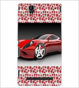 PrintDhaba Mask D-2513 Back Case Cover for SONY XPERIA T2 ULTRA (Multi-Coloured)