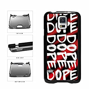 BleuReign(TM) Dope Graffiti on Red Background Plastic Phone Case Back