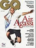 ANDRE AGASSI Signed GQ Magazine w/ COA (NO Label) - PSA/DNA Certified - Autographed Tennis Magazines
