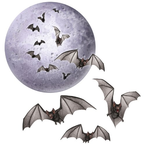 Moon & Bat Cutouts   (4/Pkg)