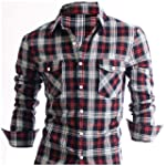 Stylish Check Mens Casual Slim fit Dr...