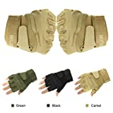 Eforstore Military Outdoor Sports Half-finger Fingerless Tactical Airsoft Fishing Gym Hunting Riding Cycling Gloves for Men Women