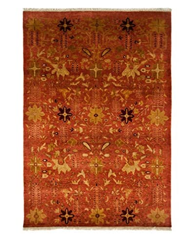 Darya Rugs Ottoman Oriental Rug, Rust, 4′ 1″ x 6′ 1″