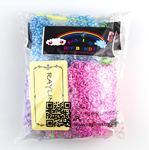 RayLineDo® 3000PCS 5 Random Different Colors With 120 Clips Rainbow Loom Bands DIY Bracelet Making Kit Twist (Magic Color Twist Loom compare prices)